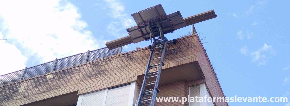 Elevación por fachada de Materiales y Mobiliario